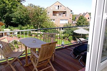 Ansicht des Balkons