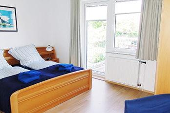 Ansicht des Schlafzimmers