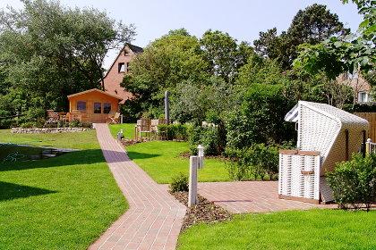Ansicht des Gartens